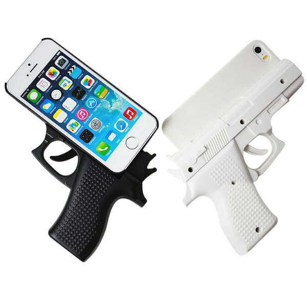 gun pistol shaped iphone 5 5s case funky