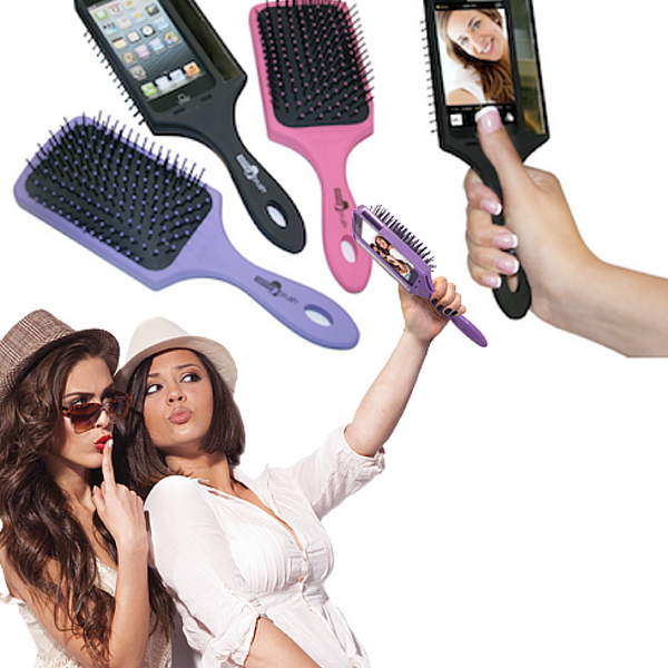 selfie hair brush iphone 6 case strange