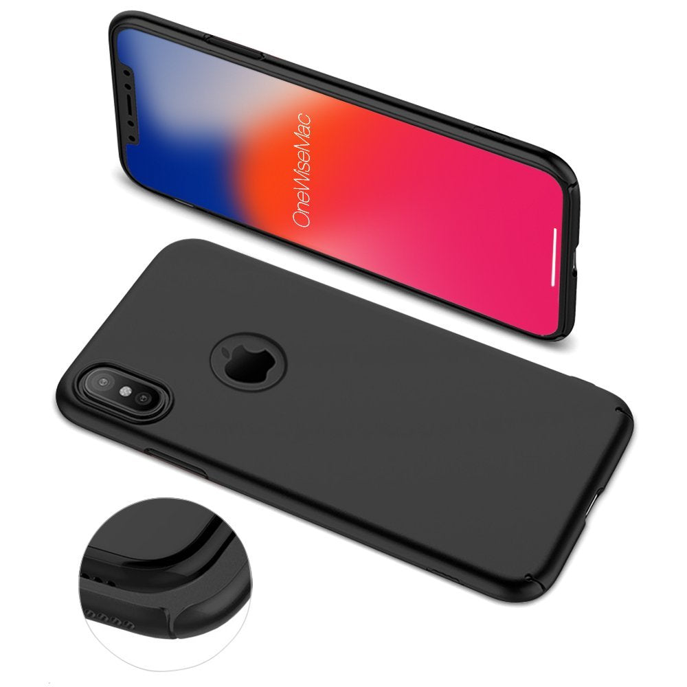 premium selection 03d67 4d4f3 Ultra Thin [Snap-On Series] Hard Shell Silky Smooth Case for iPhone X [5  Colours]