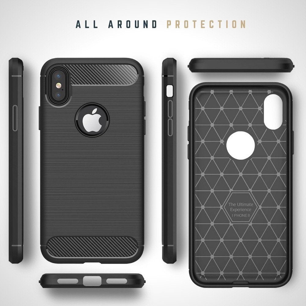 info for ace93 c854d Armour Series Ultra Light ShockProof Silicone Brushed Case for iPhone X [3  Colours]