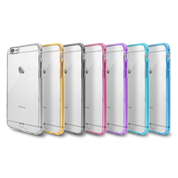 buy online 1221b 8f933 More Ultra Thin BumperLicious Case + Clear Hard Back Series for iPhone 6S /  iPhone 6