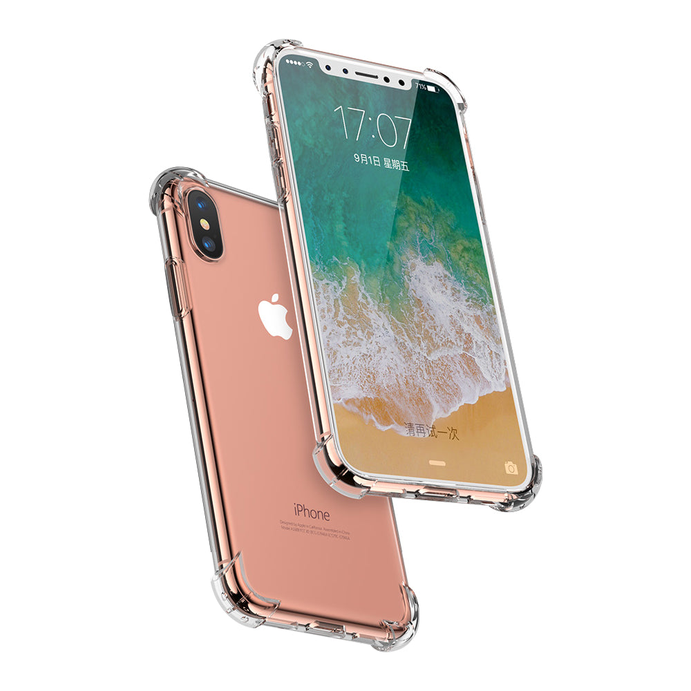 new style 08251 42304 Shock Proof Crystal Clear Bumper with Hard Back iPhone X Edition Case