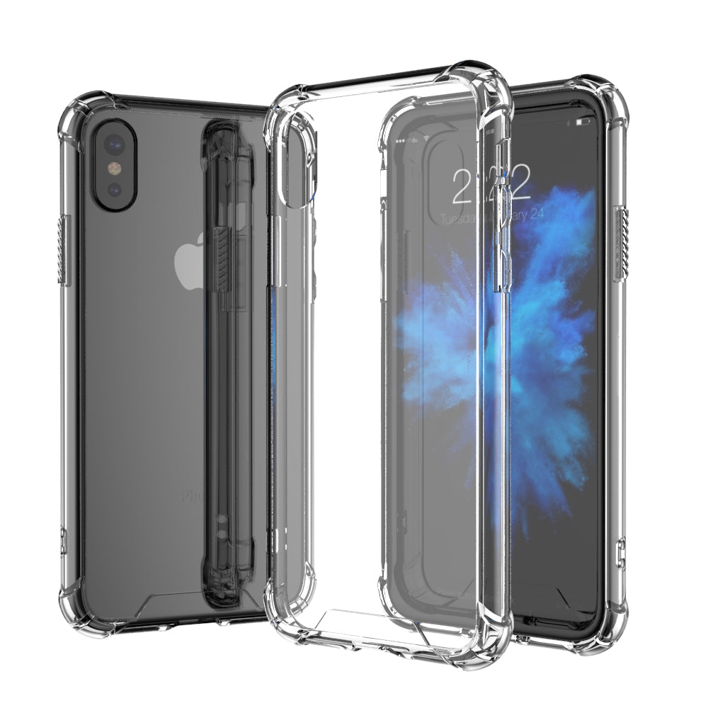 cdc6c3d1ad8 ... Shock Proof Crystal Clear Bumper with Hard Back iPhone X Edition Case  ...