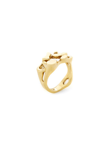 18K Yellow Gold Flat Free Form Ring