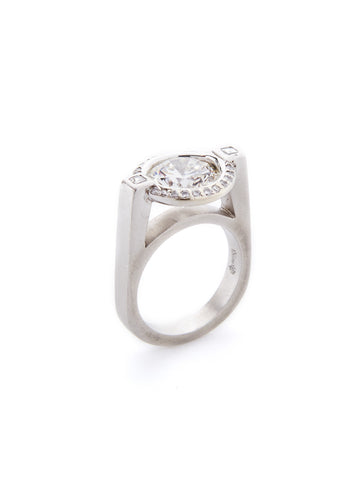 Floating Bezel Diamond Ring