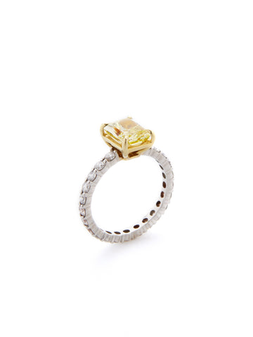 Yellow Canary Diamond Engagement Ring