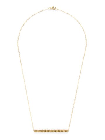 Ridged Bar Necklace