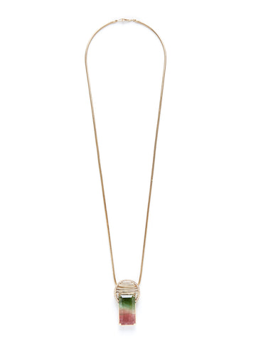 Reflecting Rods Bi-Color Tourmaline Diamond Necklace