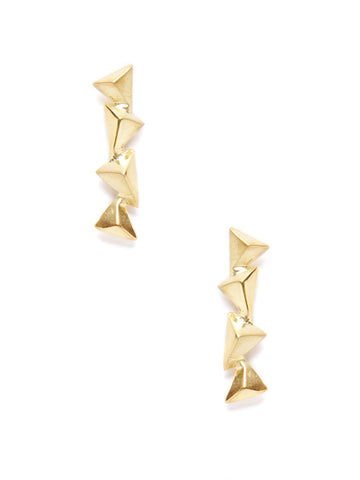 Pyramid Drop Earrings