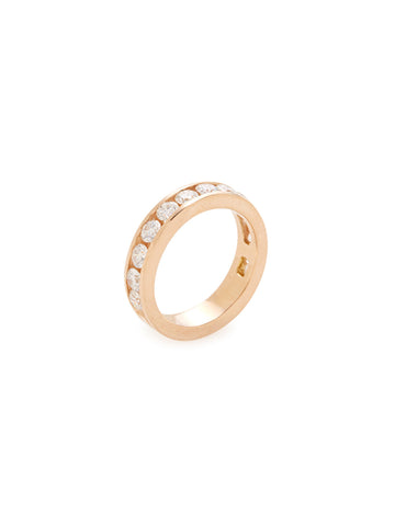 Diamond 14K Rose Gold Band