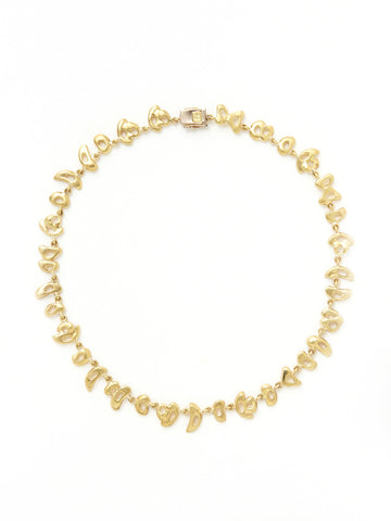 Gold Sculpted Multi-Shape Necklace