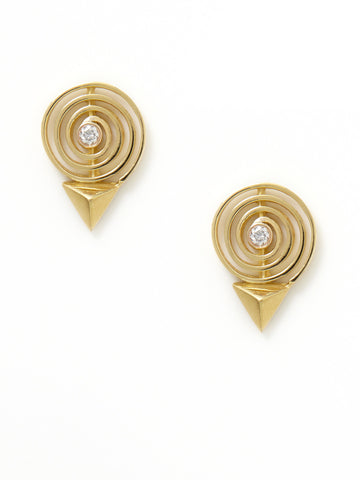 Groovy Gold Diamond Earrings