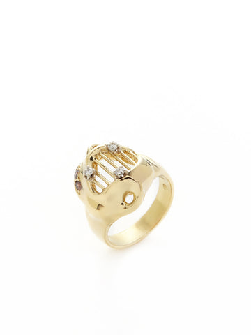 Harp Gold Diamond Ring
