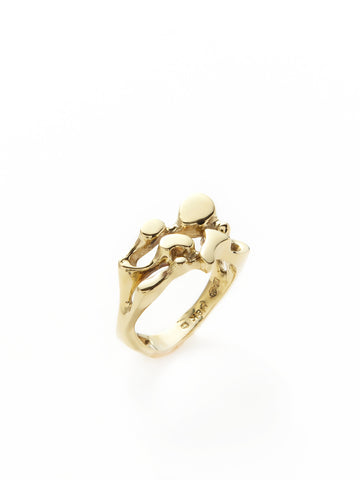 Ink Blot Gold Ring