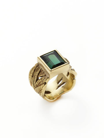 Leaf Me Alone Tourmaline Ring