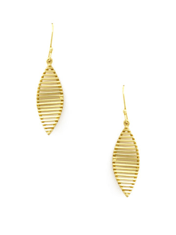 Liquid Leaf Gold Earrings