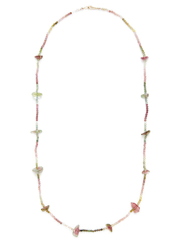 Multicolor Tourmaline Station Necklace