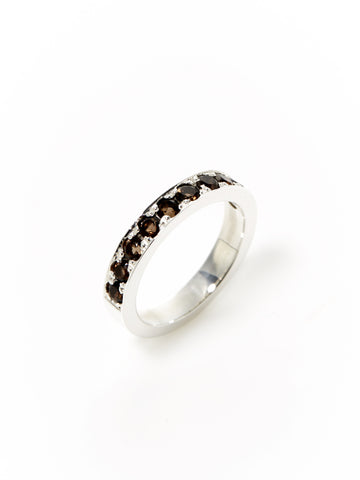 Smoky Quartz Half Eternity Band
