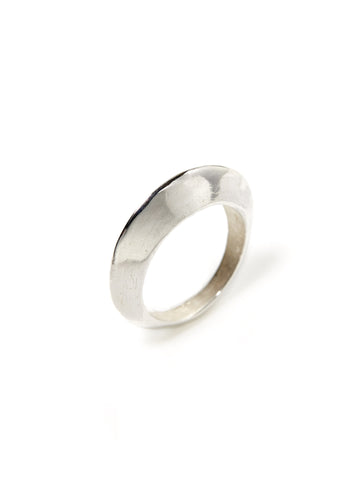 Silver Saucer Knife-Edge Ring