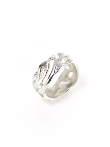 Silver Cut-out Swirl Ring