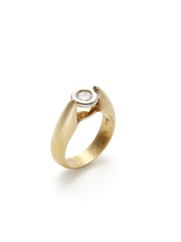 Floating Solitaire Diamond Ring