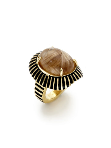 Cleo Enamel Stripe Ring
