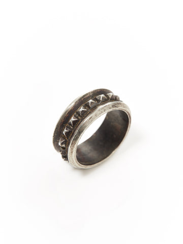 Silver Spike Stud Ring