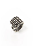 Silver Studded Shield Ring