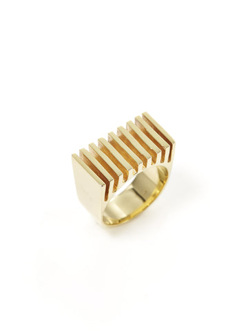 Ridged Grill Square Ring