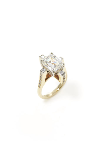 Floating Box Diamond Ring