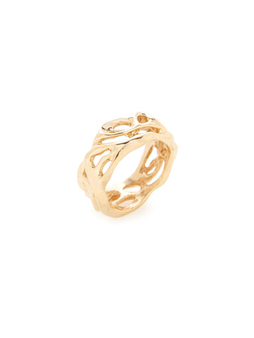 Swirl 14K Yellow Gold Ring