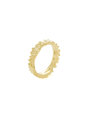 Textured 18K Yellow Gold Ring