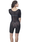Girdle With Sleeves - Half Leg - 1603 - Black - Black View
