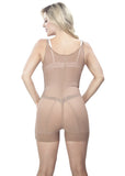 Thin Strap Short Girdle - Back View - Cocoa Nude