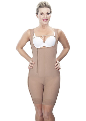 Medical Girdle with Side Zipper - 1609 - Nude - Front View