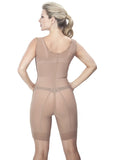 Medical Girdle with Side Zipper - 1609 - Nude - Back View