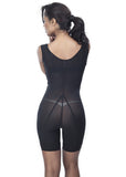 Medical Girdle with Side Zipper - 1609 - Black - Back View