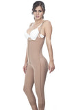 Long Girdle with Thin Strap - 1611 - Nude - Side View - Fajas y Mas
