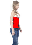 Red Latex Waist Trainer Side View