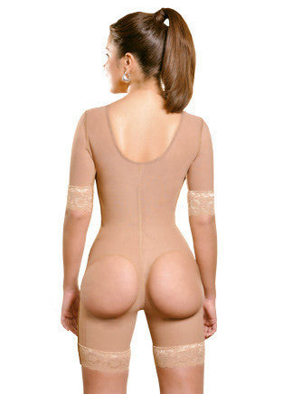 Open-rear Sleeves Girdle - Half Leg - 1625