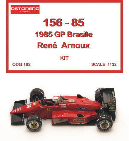 156 - 85 R. Arnoux Kit Unpainted