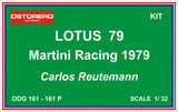 Lotus 79 Martini Racing - Carlos Reutemann - Kit Pre Painted