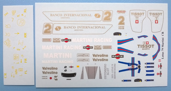 Decal Lotus Martini Racing - Carlos Reutemann # 2
