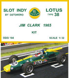 Lotus Type 38 Kit Unpainted - Jim Clark 1965