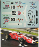 Decal Lotus Type 38 STP # 18 - Al Unser