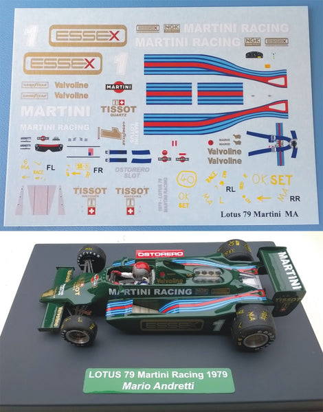 Decal Lotus Martini Racing - Mario Andretti #1