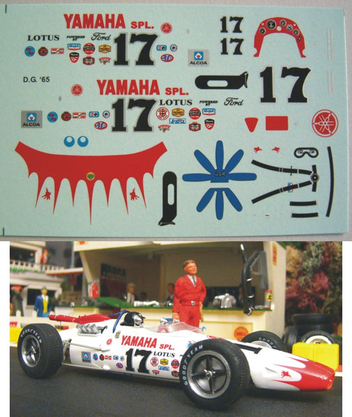 Decal Lotus Type 38 # 17 - Dan Gurney 1965