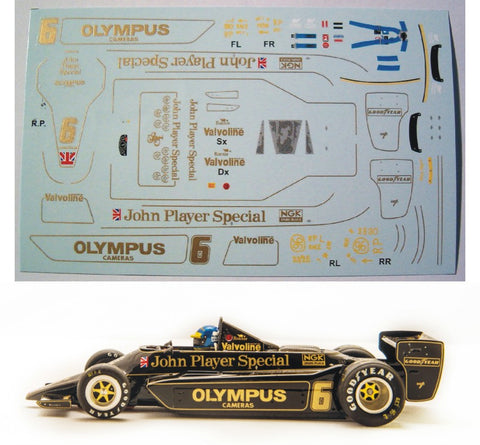 Decal Lotus 79 JPS - Ronnie Peterson