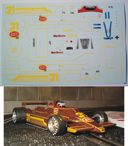Decal Lotus 79 - Hector Rebaque