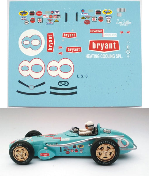 Decal Watson Roadster Bryant # 8 - Len Sutton